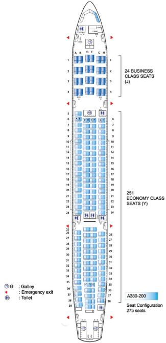 Air Mauritius Airbus A330 200 Seating Plan Flight Check In