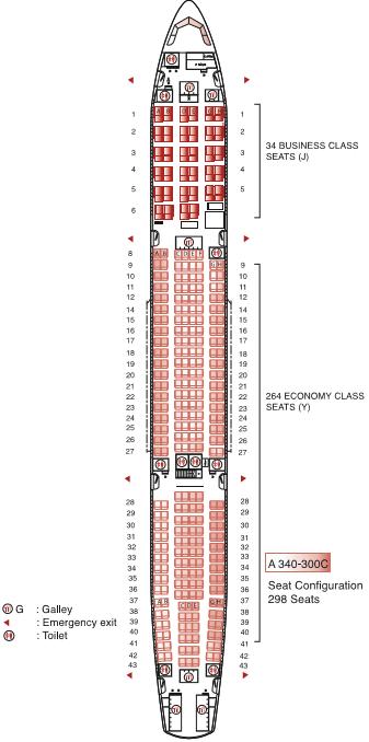 Air Mauritius Airbus A340 300 Seating Plan Flight Check In
