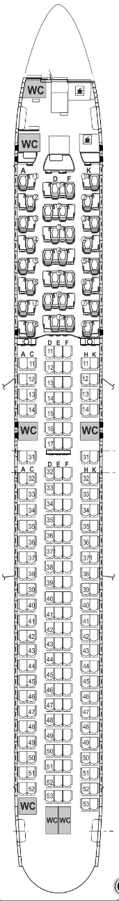 air astana 767 seat map