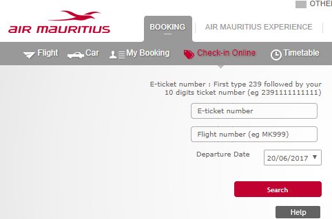 Air Mauritius Online Check in | Flight Check-in
