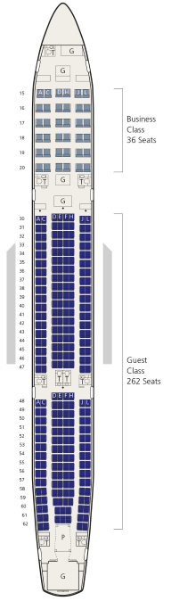 saudi airlines a330-300 seat map